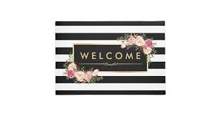 Wipe Your Paws Doormat Zazzle Black And White Doormats U0026 Welcome Mats Zazzle