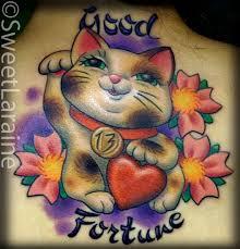92 best lucky cat tattoo images on pinterest cat tattoos lucky