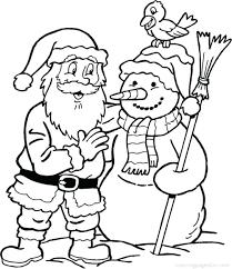 snowman coloring santa hat book claus games free