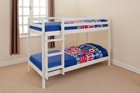 Wooden Bunk Bed Children Kids Ft Shorty In White Or Natural Pine - Kids wooden bunk beds