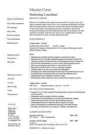 sample marketing consultant resume marketing consultant resume