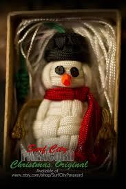 parafrost paracord snowman christmas ornament set of 3 https