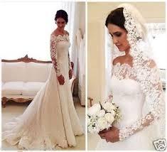 wedding dresses with sleeves uk new lace mermaid portrait sleeve wedding dress formal bridal
