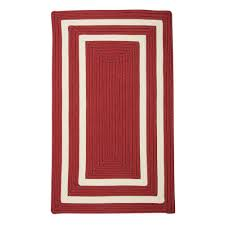 Indoor Outdoor Rugs Home Depot by Home Decorators Collection Griffin Border Red White 8 Ft X 11 Ft