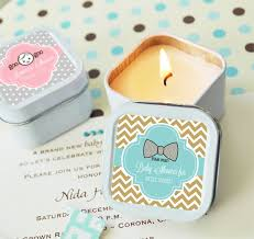 candle baby shower favors personalized square baby shower candle tins