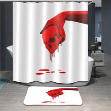 Blood Shower Curtain Compare Prices On Skull Shower Curtain Hooks Online Shopping Buy