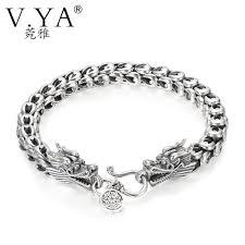 dragon bracelet silver images V ya punk men jewelry dragon bracelets 100 thai silver bracelets jpg