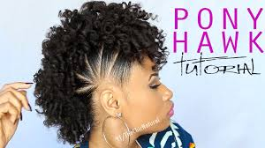 curly weave mohawk hairstyles the pony hawk natural hairstyle youtube