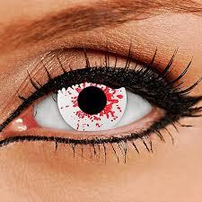 blood splat contact lenses halloween contact lenses