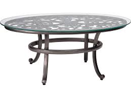 Woodard Outdoor Patio Furniture by Woodard New Orleans Cast Aluminum 52 X 28 Round Glass Top Coffee