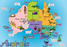 download australia map kids major tourist attractions maps