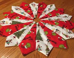 Peppermint Twist Tree Skirt Using Grinch Tree Skirt Etsy