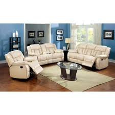 furniture of america thaerin transitional bonded leather reclining
