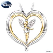 Necklace Engraving Disney Tinker Bell Believe Pendant Necklace With Engraving