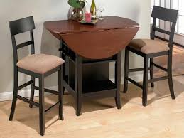 high top kitchen table with leaf black high gloss polished wooden dining table with brown drop leaf
