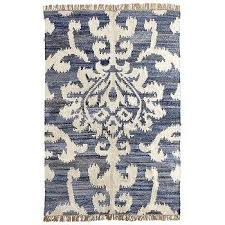 Damask Rugs Julieta Blue And Beige Damask Rug