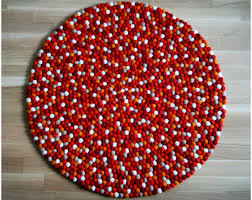 Nepal Felt Ball Rug Custom Felted Ball Rugs Round All Sizes And Colours Diy Felt