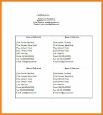 reference list for resume template resume references resume