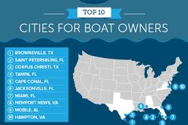 Florida Cities Map Miami Gets Robbed Ranks 7th Among Nation U0027s Best Boat Cities