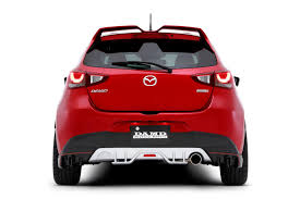 mazda 2 crossover 2016 mazda2 and cx 3 get aggressive body kits from damd in japan