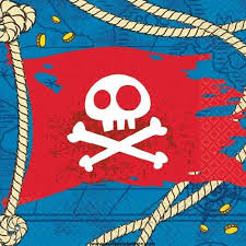 jake neverland pirates flag bev napkins party supplies