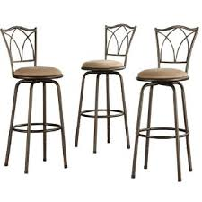 Cross Back Bar Stool Oxford Creek Double Cross Back Bar Stools Set Of 3 Copper Home