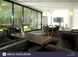 meeting room conference table flat screen tv couch group