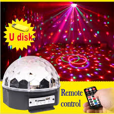magic laser christmas lights 6 led 18w remote control mp3 crystal magic ball led stage l disco