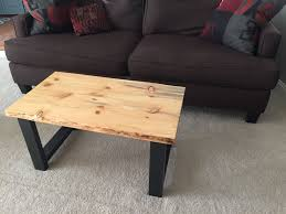 buy a custom live edge beetle kill pine wood top coffee table w
