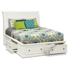 Platform Bed Value City White Storage Bed