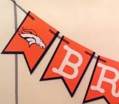 Nfl Denver Broncos Banner Broncos Banner Broncos Birthday