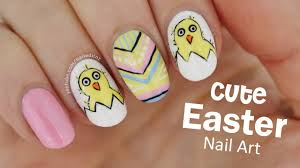 super cute easter nail art youtube
