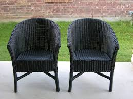 creative splatter painted wicker chairs