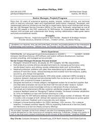 Project Resume Example by It Manager Resume Example