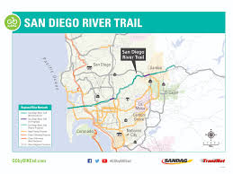 San Diego Mts Map by San Diego River Trail Overview