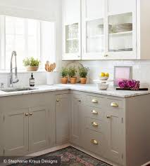 small kitchens with taupe cabinets two tone kitchen cabinets to inspire your next redesign