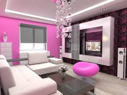pink color ideas for feminine living room design with dangling