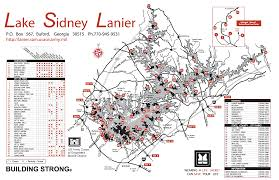 lake lanier map lanier partners of