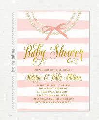 diamonds and pearls baby shower pearls baby shower invitation gold pink bow glitter diamonds