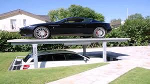 Basement Car Lift Home Design With Basement Parking Youtube