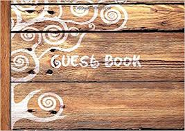 guest sign in books guest book visitors book guestbook wooden rustic design
