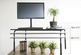Adjustable Height Computer Desk by Desk T V040 Standing Height Adjustable Desktop Stand Stand Up