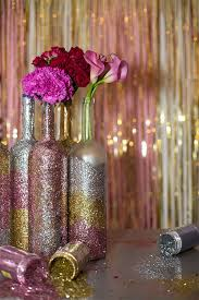 wine bottle centerpieces glitter wine bottle centerpieces home decor crafting