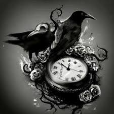 crows roses and clock tattoos graphic photos pictures and