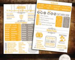 Fun Wedding Programs Custom Infographic Wedding Program By Storydesignstudio On Etsy
