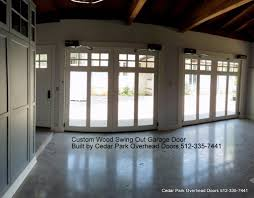 garage doors custom custom swing out garage doors cedar park overhead doors