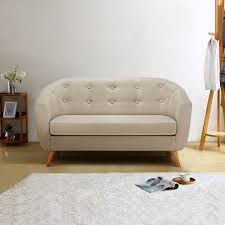 High Back Tufted Loveseat Design Adds An Extra Element Of Style And Comfort To Your Living
