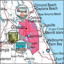 Greater Orlando Area Map by Publications By Region Heritage Publishing Inc