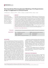 pharmacokinetic pharmacodynamic modeling of antihypertensive drugs