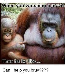 Ape Meme - when you re watching movie memes